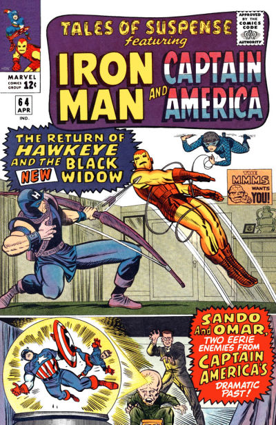 Cover for Tales of Suspense (Marvel, 1959 series) #64
