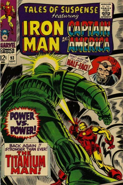Cover for Tales of Suspense (Marvel, 1959 series) #93