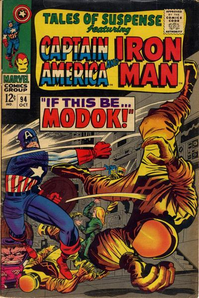 Cover for Tales of Suspense (Marvel, 1959 series) #94
