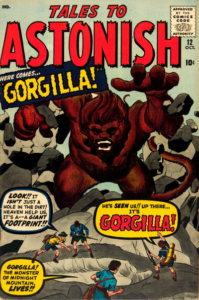 Cover for Tales to Astonish (Marvel, 1959 series) #12