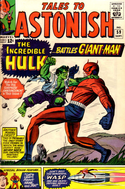 Cover for Tales to Astonish (Marvel, 1959 series) #59