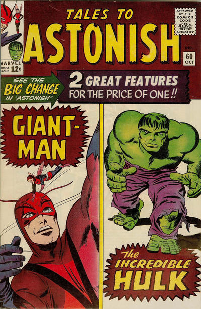 Cover for Tales to Astonish (Marvel, 1959 series) #60