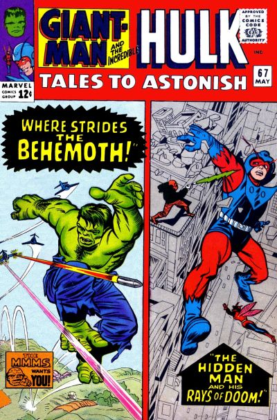 Cover for Tales to Astonish (Marvel, 1959 series) #67