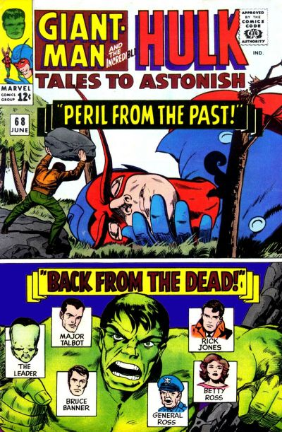 Cover for Tales to Astonish (Marvel, 1959 series) #68