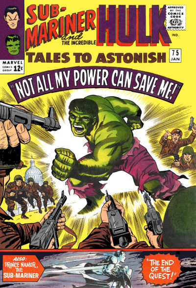 Cover for Tales to Astonish (Marvel, 1959 series) #75 [Regular Edition]
