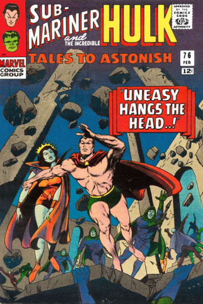 Cover for Tales to Astonish (Marvel, 1959 series) #76