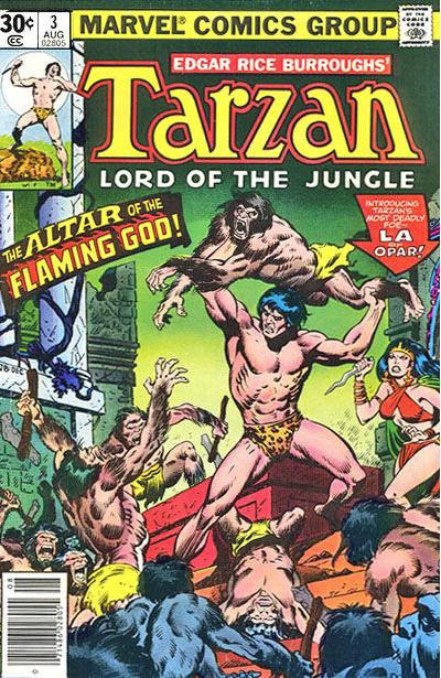 Cover for Tarzan (Marvel, 1977 series) #3 [30 cent cover]