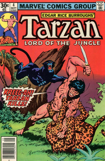 Cover for Tarzan (Marvel, 1977 series) #4 [35 cent cover price variant]