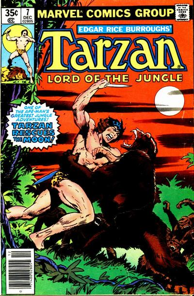 Cover for Tarzan (Marvel, 1977 series) #7
