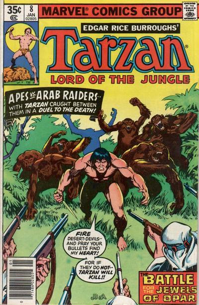 Cover for Tarzan (Marvel, 1977 series) #8