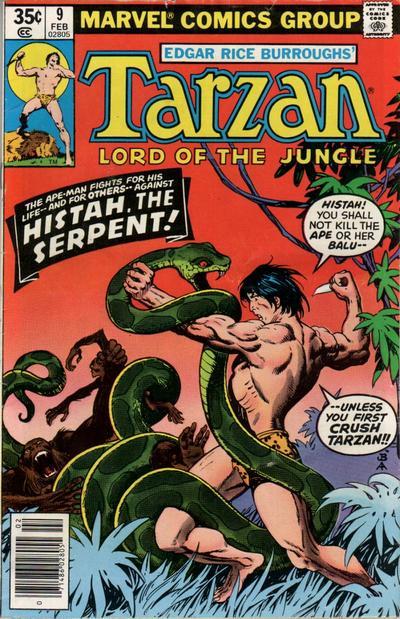 Cover for Tarzan (Marvel, 1977 series) #9