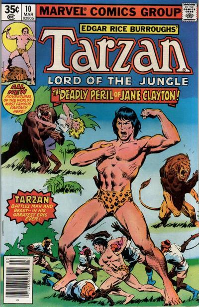Cover for Tarzan (Marvel, 1977 series) #10
