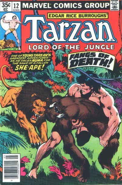 Cover for Tarzan (Marvel, 1977 series) #12