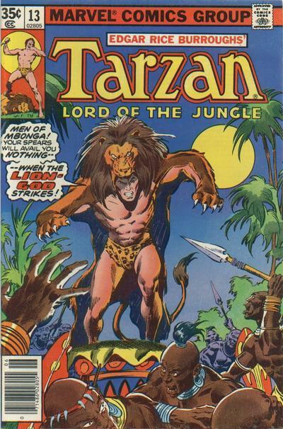 Cover for Tarzan (Marvel, 1977 series) #13
