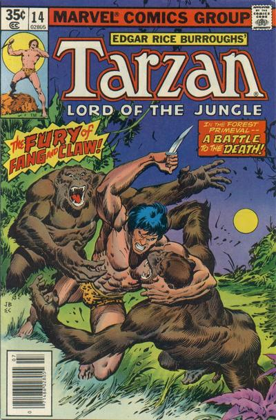 Cover for Tarzan (Marvel, 1977 series) #14
