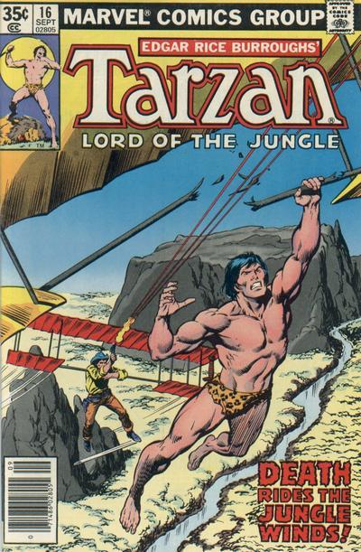 Cover for Tarzan (Marvel, 1977 series) #16