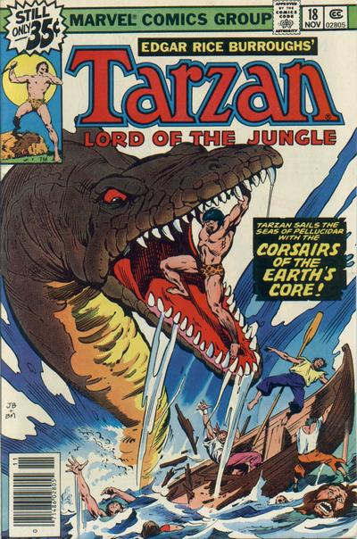 Cover for Tarzan (Marvel, 1977 series) #18 [non-newsstand bagged]