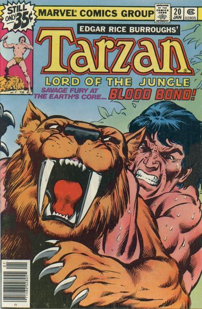 Cover for Tarzan (Marvel, 1977 series) #20