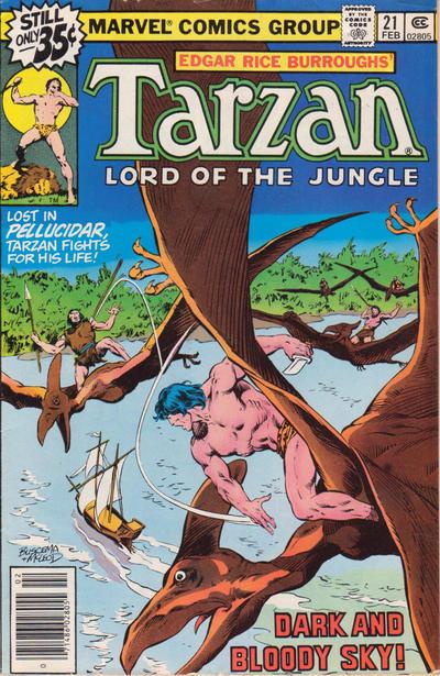 Cover for Tarzan (Marvel, 1977 series) #21 [Regular Edition]