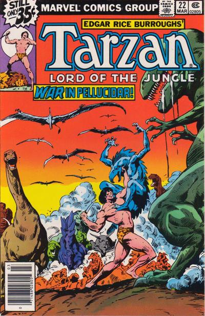 Cover for Tarzan (Marvel, 1977 series) #22