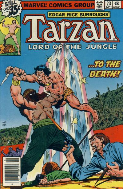 Cover for Tarzan (Marvel, 1977 series) #23