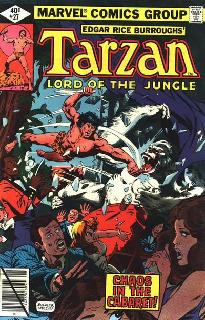 Cover for Tarzan (Marvel, 1977 series) #27