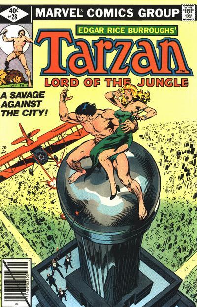 Cover for Tarzan (Marvel, 1977 series) #28
