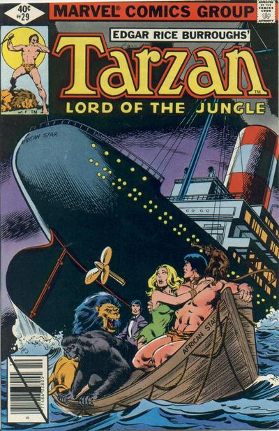 Cover for Tarzan (Marvel, 1977 series) #29