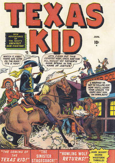 Cover for Texas Kid (Marvel, 1951 series) #1