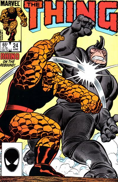Cover for The Thing (Marvel, 1983 series) #24 [Direct Edition]