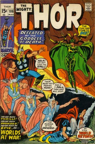 Cover for Thor (Marvel, 1966 series) #186 [British]