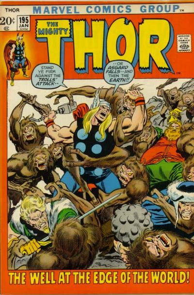 Cover for Thor (Marvel, 1966 series) #195