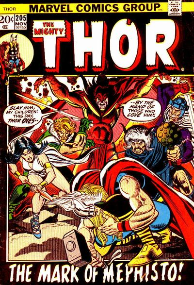 Cover for Thor (Marvel, 1966 series) #205 [British]