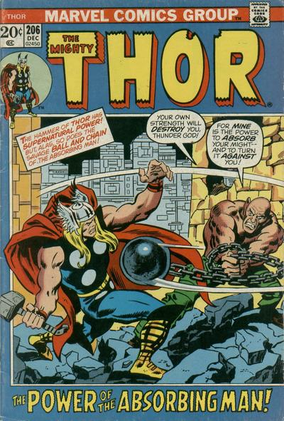 Cover for Thor (Marvel, 1966 series) #206
