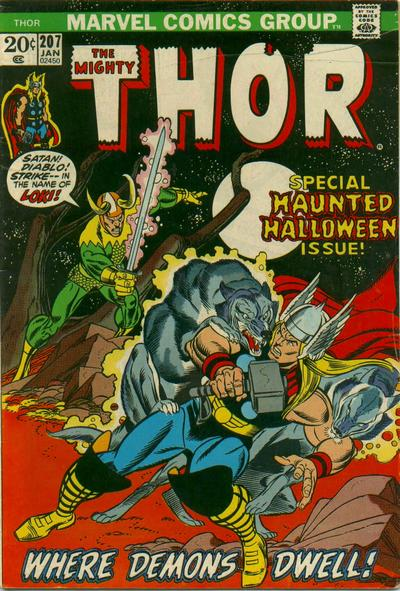 Cover for Thor (Marvel, 1966 series) #207