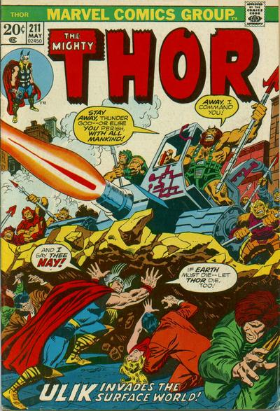 Cover for Thor (Marvel, 1966 series) #211 [Regular Edition]