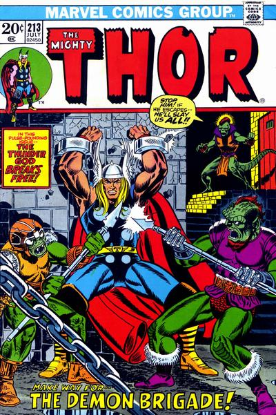 Cover for Thor (Marvel, 1966 series) #213 [Regular Edition]