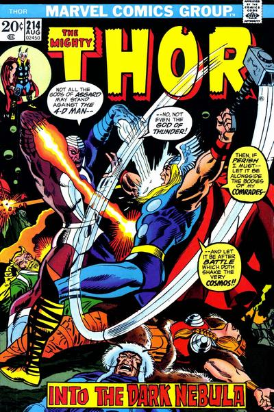 Cover for Thor (Marvel, 1966 series) #214 [British]