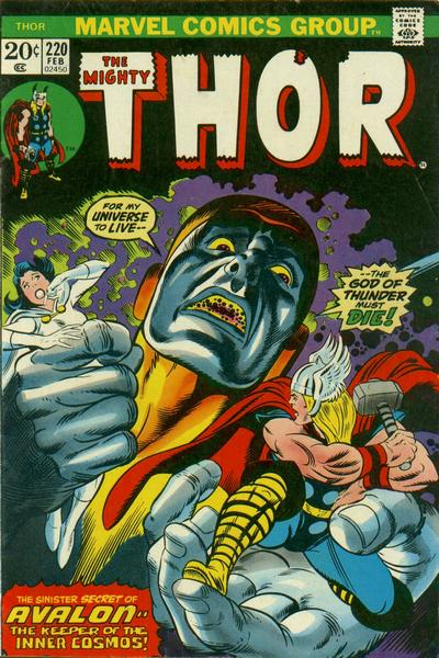 Cover for Thor (Marvel, 1966 series) #220