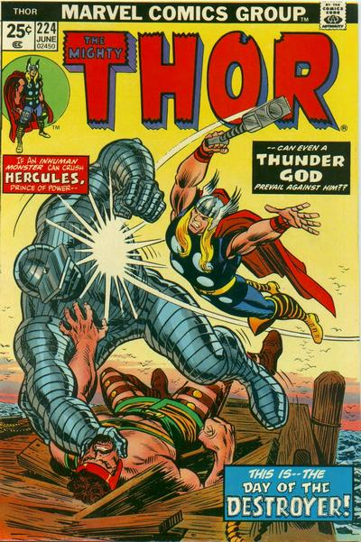 Cover for Thor (Marvel, 1966 series) #224