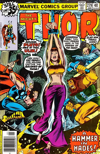 Cover for Thor (Marvel, 1966 series) #279 [newsstand]