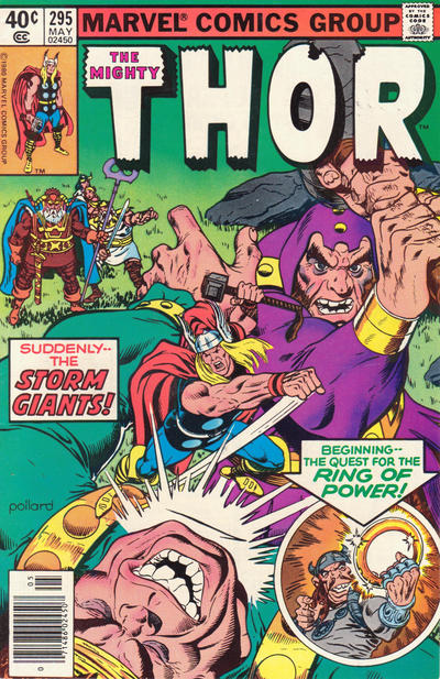 Cover for Thor (Marvel, 1966 series) #295 [Newsstand Edition]