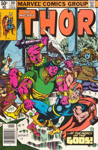 Cover for Thor (Marvel, 1966 series) #301 [Direct]