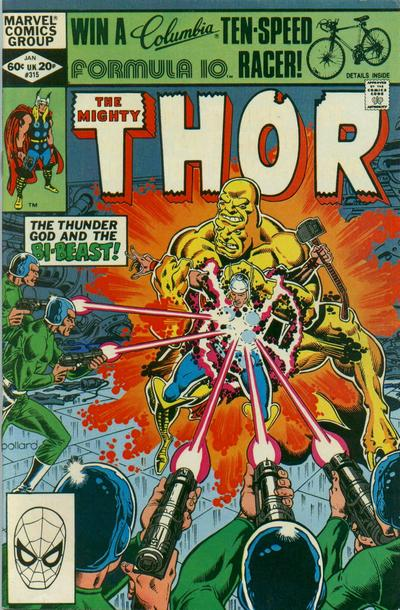 Cover for Thor (Marvel, 1966 series) #315