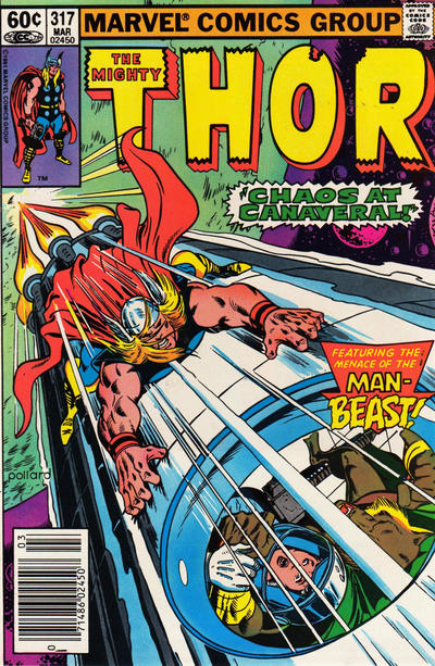 Cover for Thor (Marvel, 1966 series) #317 [Newsstand]