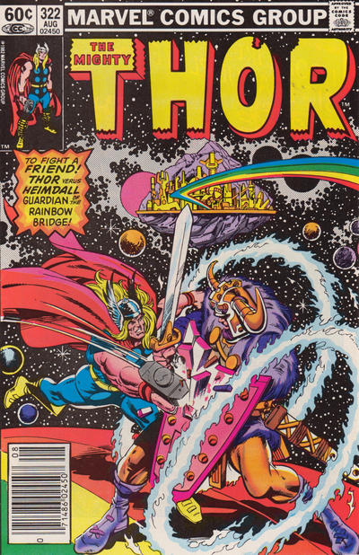 Cover for Thor (Marvel, 1966 series) #322 [Newsstand]