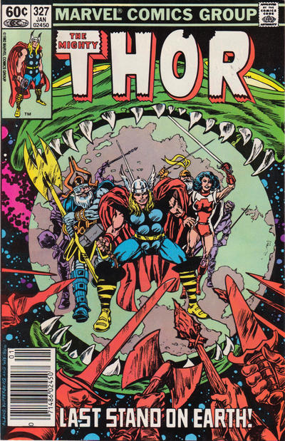 Cover for Thor (Marvel, 1966 series) #327 [Canadian Price Variant]