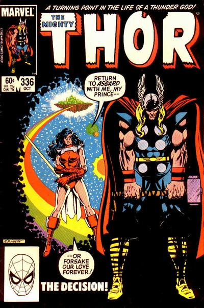 Cover for Thor (Marvel, 1966 series) #336 [Direct Edition]