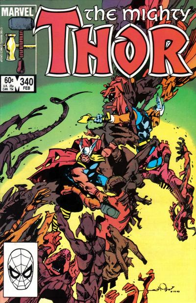 Cover for Thor (Marvel, 1966 series) #340 [Direct]