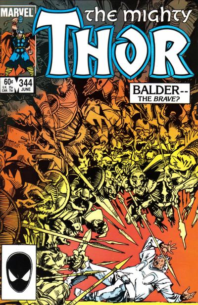 Cover for Thor (Marvel, 1966 series) #344 [direct edition]